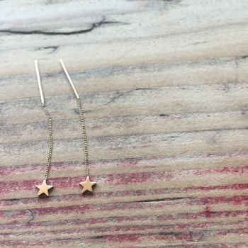 Star Thread Through Earrings
