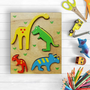 Two In One Dino Puzzle - puzzles
