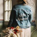 Personalised Painted Calligraphy Bridal Denim Jacket