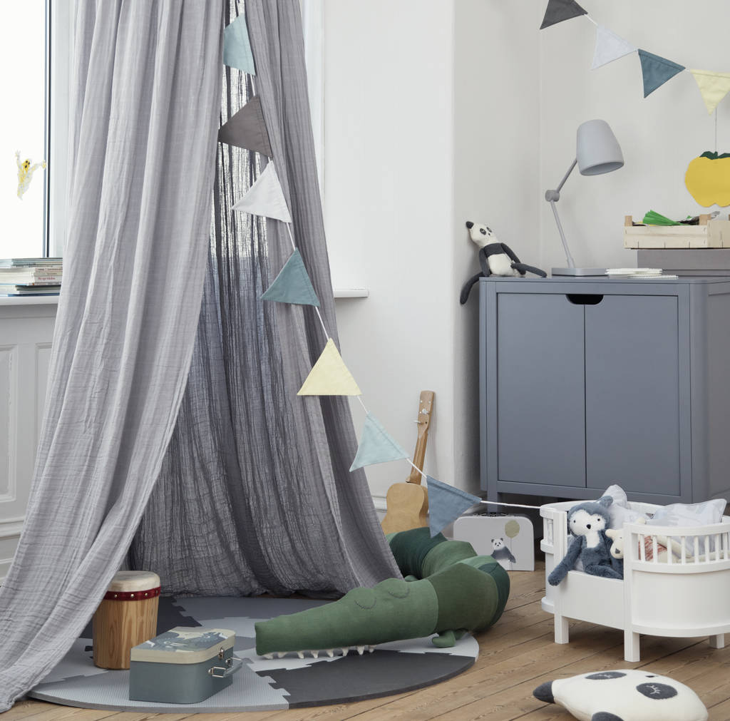 organic cotton childrens bedroom canopy by little ella james ...