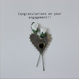 Engagement Congratulations Card Hand Made