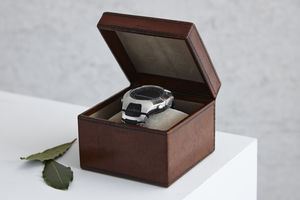 Personalised Leather Watch Box In Four Sizes - boxes, trunks & crates