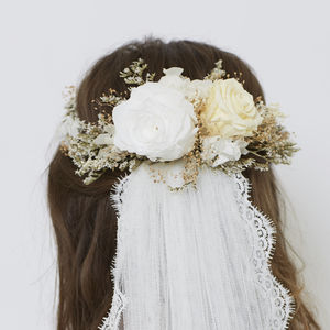 Snow Retro Crown - bridal hairpieces