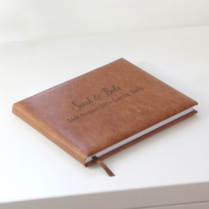 Personalised Leather Guest Book - personalised