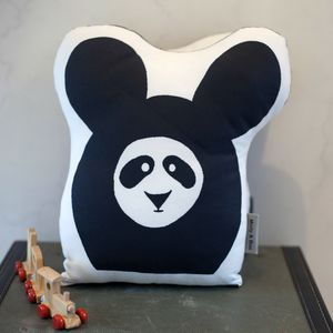 Shaped Cushion With Panda Print