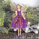 Purple Fairy Angel Christmas Tree Decoration