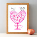 Mrs And Mrs Personalised Wedding Gift Print