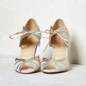Ophelia Blush Ivory Suede - bridal shoes