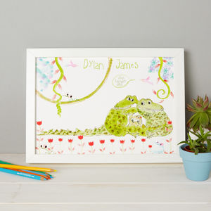 Personalised Crocodile Boy's Print