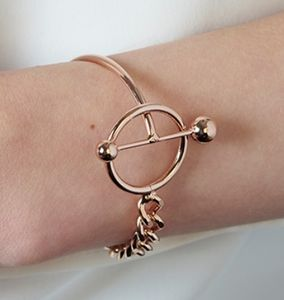 Modern Toggle Bar Bracelet With Chunky Chain - bracelets & bangles