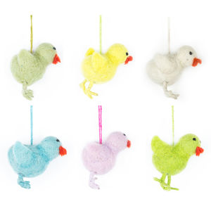 Handmade Felt Chicks
