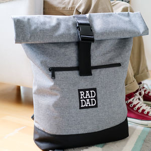 'Rad Dad' Roll Top Backpack