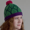 Green Leaf Lambswool Hat