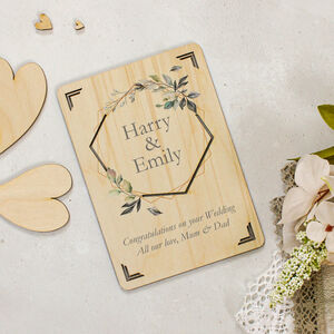 Personalised Wooden Wedding Or Engagement Card