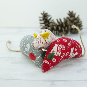 Christmas Mice Cat Toys With Extra Strength Catnip - cats
