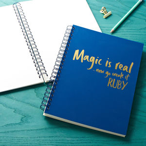 Personalised Magic Is Real Memory Book - diaries, stationery & books
