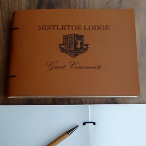 Bespoke Leather Guest Book