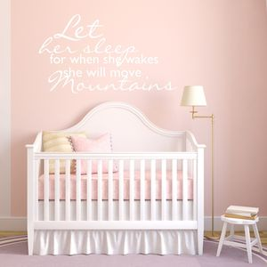 Girls Nursery Wall Sticker - decorative accessories