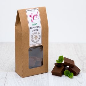 Organic Mint Chocolate Fudge - fudge