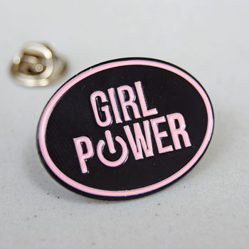 'Girl Power' Enamel Pin Badge