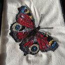 Handmade Butterfly Embroidery Art
