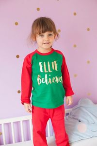 Personalised Child Believes Christmas Pyjamas - christmas eve