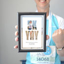 Small Framed '5k Yay' Running Photo Print