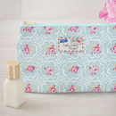 Rose Tile Floral Roses Gift Makeup Cosmetic Bag