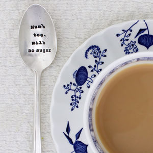 Personalised Silver Plated Vintage Tea Spoon - christmas dining