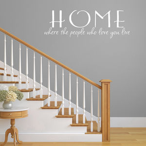 Home Quote Vinyl Wall Sticker
