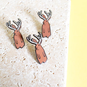 Jackalope Enamel Pin - women's jewellery