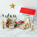 Wooden Railway Scene Advent Calendar