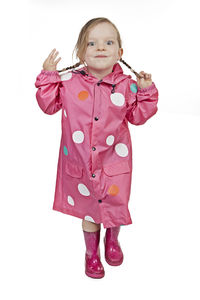 Child's Colour Changing Polka Dot Rain Jacket