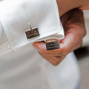 Personalised Written Date Cufflinks - best man & usher gifts