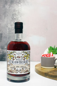 Personalised Wild Strawberry Liqueur - personalised gifts for foodies