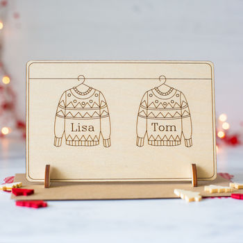 Personalised Christmas Card for Boyfriend