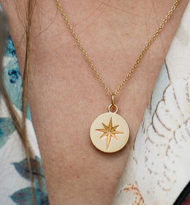 Starburst Charm Necklace - best valentine's gifts for her