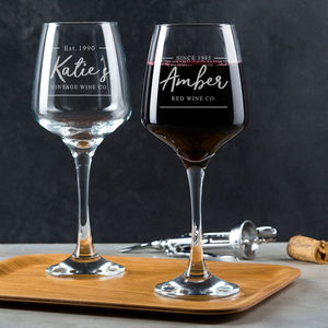Personalised Wine Glass For Her - wine glasses & goblets