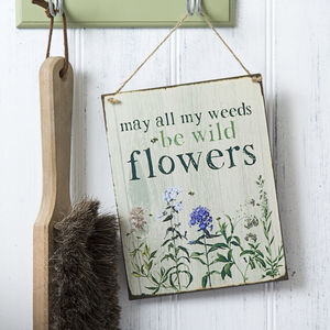 Wild Flowers Garden Sign - art & decorations