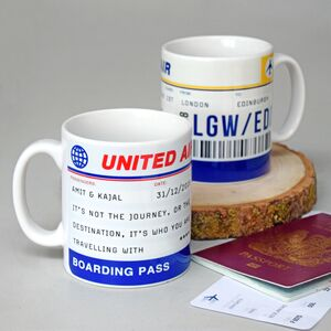Personalised Boarding Pass Mug