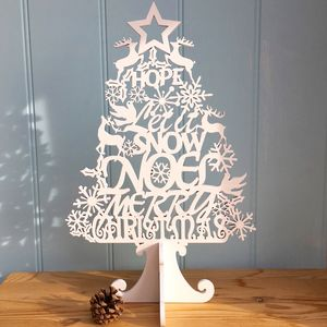 Christmas Tree Cut Out Merry Christmas - christmas decorations