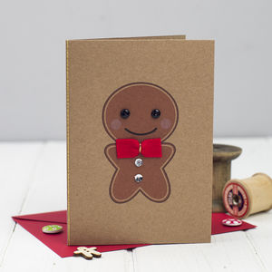 Gingerbread Man Card - christmas card packs