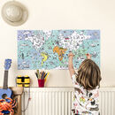 Colour In A6 Card Book World Map