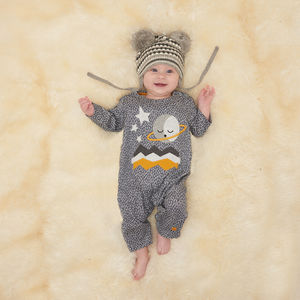 Andromeda Planets Baby Playsuit - gifts for babies