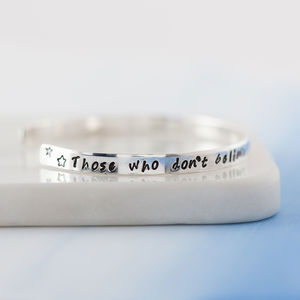 Personalised Me And You Stacking Bangle