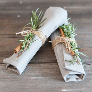 Organic Cotton Grey Napkins - natural artisan styling