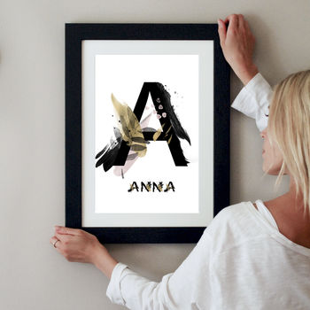 Personalised Japanese Style Letter Print