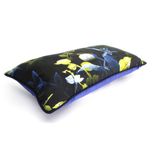 Forest Undergrowth Silk Luxury Botanical Cushion