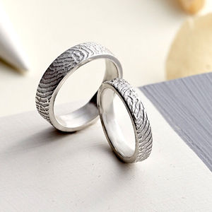 Sterling Silver Fingerprint Ring - rings