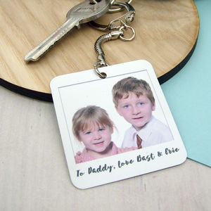Personalised Retro Style Photo Keyring